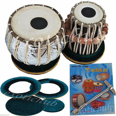 Tabla Drums~4 Kg Copper Bayan With Chrome Polish~Shesham Wood Dayan~Tabla Ehs