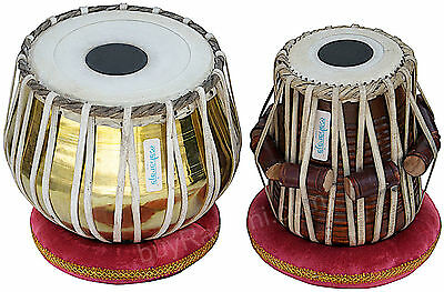 Tabla Set|Maharaja|Golden Brass Bayan 3Kg|Indian Drum|Sheesham Dayan|Accs.|Ch-2