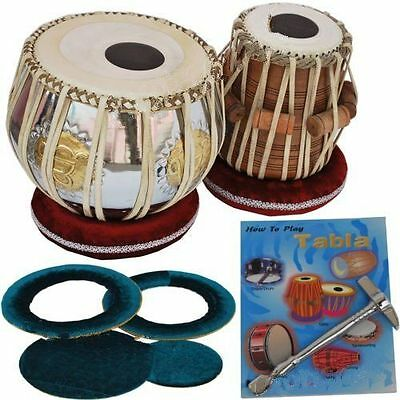 Dorpmarket Tabla Drum Set-Ek Onkar Brass Bayan-Sheesham Wood Dayan- Case/Book -