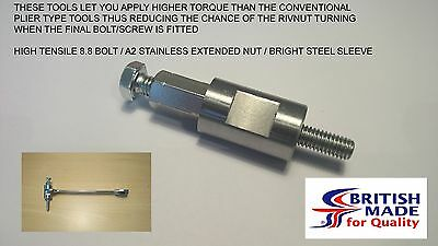 M6 - Engineers Heavy Duty High Tensile (8.8)  Rivnut Insert Setting Tool Nutsert