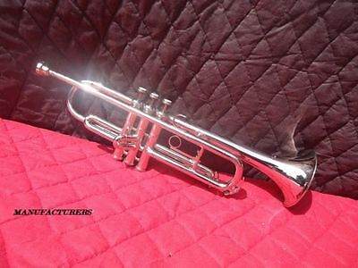 """Trumpet""""chrome_Finish With Case,mute And Mp Beginners"""