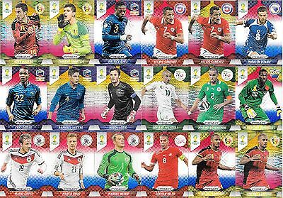 110x 2014 WORLD CUP PANINI PRIZM Refractor Parallel Power Plaid Pulsar Cards Lot