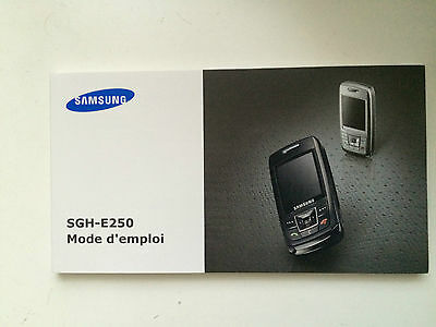Samsung SGH-E250 Instruction Booklet in french