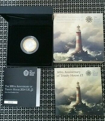 2014 500th anniversary of trinity house silver proof piedfort two pound coin