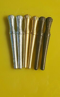 6 Brass Cribbage Pegs Made In Canada @fast Shipping