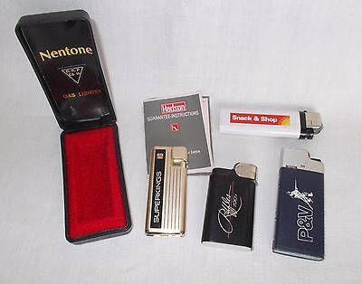 JOB LOT OF VINTAGE PROMOTIONAL LIGHTERS 1980s