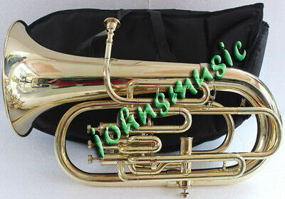 Euphonium Bb/f 4 Valve_Brass^finish^w/case&mp Great Sound Tuba Ebay Musicals.