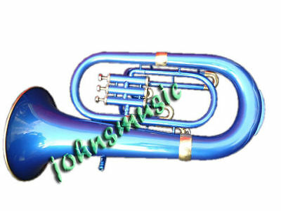 "Euphonium Bb Blue^color Bb""pitch""w""case&mp_Brass Made Tuba Great Sound Indians"