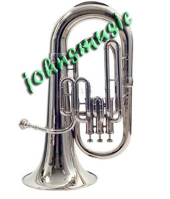 "New Euphonium""bb^valve_Chrome^finish-W_Case-Mp>Awesome-Sound-Tuba-Sousaphone-Bra"