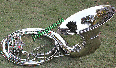 "cHRISTMAS^OFFER^SOUSAPHONE *24 "" VALVE""BIG SOUSAPHONE FAST""W/ CASE BOX CHROME"