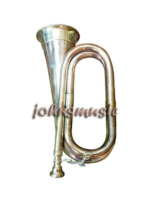"bugle copper $ brass finish bb pitch^for""army &_school_purpose great sound"