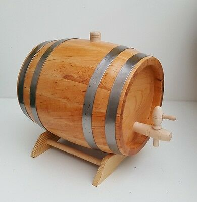 5 L Wooden Barrel  Cherry Wood Cask home decoration with wooden tap and stand