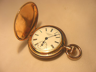 ANTIQUE NEW YORK STANDARD Co POCKET WATCH GOLD PLATED