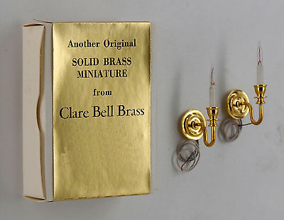 "Clare Bell 1:12 Scale Miniatures Acc. # 1770121 ""wall Sconces (Round)"" #5 **"