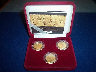 HER MAJESTY QUEEN VICTORIA SOVEREIGN PORTRAIT COLLECTION 3 COIN SET No 0152
