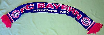 FC BAYERN MÜNCHEN Schal FOREVER No.1 You´ll never walk alone FCB #d6202