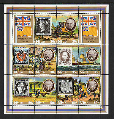 NIUE - 1979, Sir Rowland Hill Death Centenary, Mini-Sheet, MNH