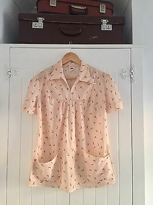 VINTAGE 1970's Patterned Iconic Look Top Size 14 Mod Scooter Girl Retro