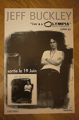 Jeff Buckley - French Promo Poster, Live at Olympia