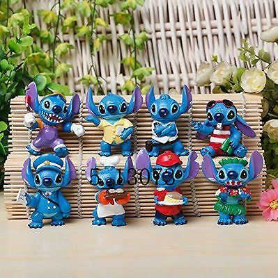 "Funny Lilo and Stitch 8 Pcs Figure Set ""Elvis"" Figure"