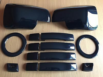 Gloss Black Set For Range Rover Sport 2005-2009 Handles Fog Mirror Covers