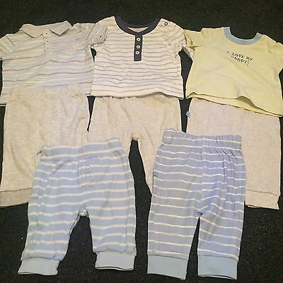 Baby Boy Bundle - Age 0-3 Months - 8 Items - Some Unworn - 3 Tops & 5 Trousers
