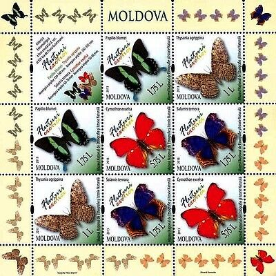 Moldova stamps, Butterflies and Moths, 2013, MNH, 8v