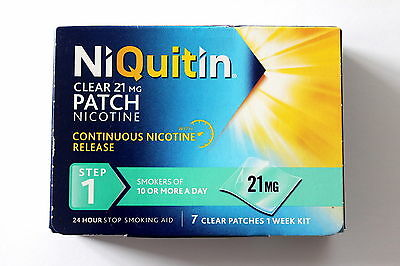 NIQUITIN 21mg PATCHES - Step 1 X 140 (20 Boxes) FREE INTERNATIONAL SHIPPING