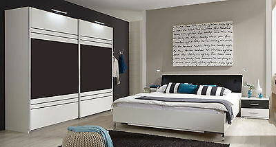 schlafzimmer komplett bali 4 tlg mit schwebet renschrank wei lava neu 587391 eur 449 00. Black Bedroom Furniture Sets. Home Design Ideas