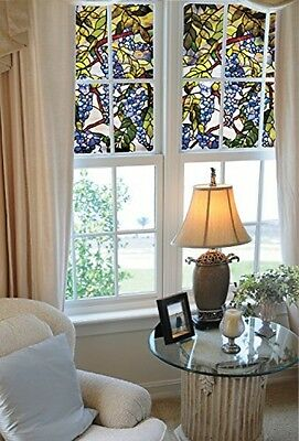 24 x 36 Textured And Stained Glass Artscape Wisteria Window Film