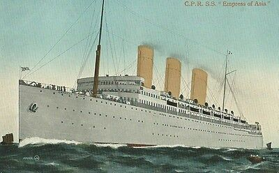 "Canada, Canadian Pacific Steam Ship ""empress Of Asia"", Coloured Postcard"