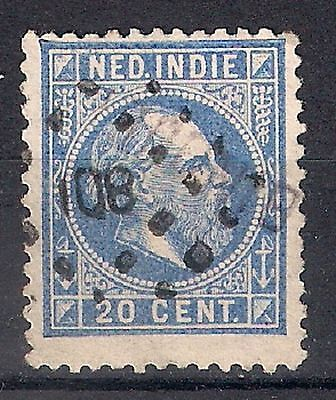 NETHERLANDS INDIES 1870-88 - SC. 12  20c ultra  USED  - 8/22