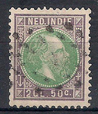 NETHERLANDS INDIES 1870-88 - SC. 16  2.50g green & vio  USED  - 8/22