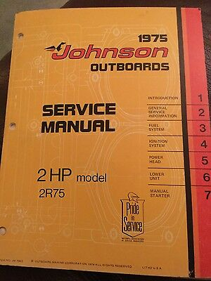 Johnson (1975) service manual - 2 hp models