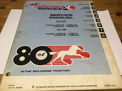 Johnson (1980) service manual - 9.9 and 15 HP models