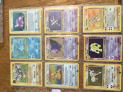 pokemon complete fossil set cards 62/62 articuno gengar moltres