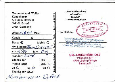QSL Ak, CB Radio Station,Estorf, West Germany, Münster, Lüdinghausen, Bavaria 01
