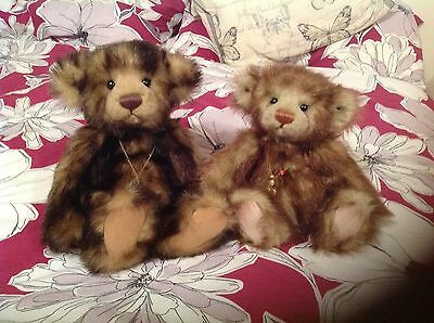 "Charlie Bears ""rhubarb & Crumble"" Limited Edition Rare With Tags And Bag!!!!!!!!"