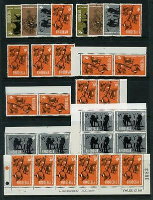 Rhodesia  1967 Nature Conservation Mint and Used. Including Varieties