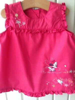 Baby Girls Clothes 18-24 Months - Disney's Minnie Mouse Pink Summer Top