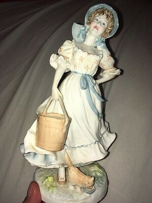 Old Country Ways Royal Worcester THE MILKMAID Ltd Edition Figurine