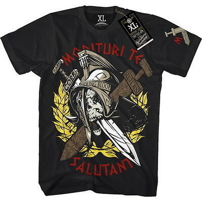 T-Shirt Hardcore Training Gladiator Sword Herren MMA Fitness Kampfsport Training