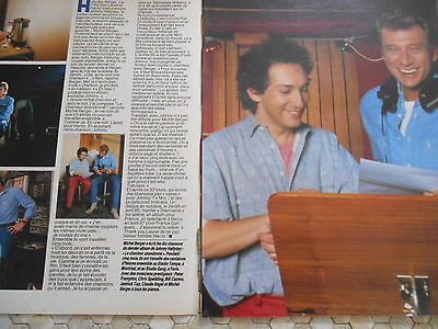 Coupure De Presse Johnny Hallyday Et Michel Berger