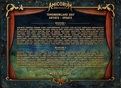 Tomorrowland 2017 Ticket Weekend 2 Full Madness