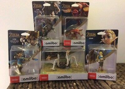 Legend of Zelda Breath of the Wild Amiibo Guardian/Zelda/Rider/Archer/Bokoblin