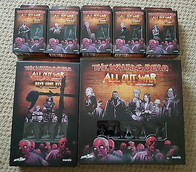 The Walking Dead All Out War Minitures Game Bundle, Mantic