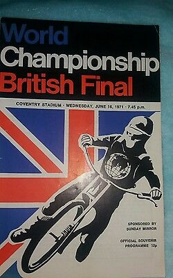 British Final Programme 1971 @ Coventry