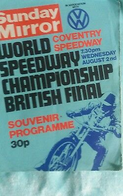 British Final Programme 1978 @ Coventry