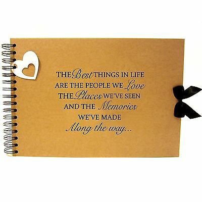 Scrapbook A5 A4 Life Friends & Love Quote, Landscape, Card Pages, Photo Album