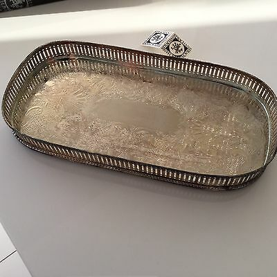 STRACHAN SILVER COCKTAIL TRAY PLATTER Never Used